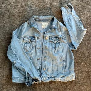 Torrid Distress Denim Jacket